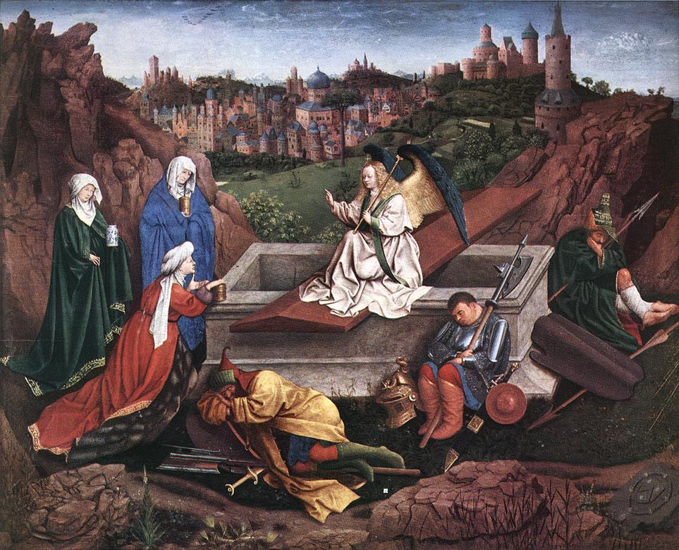 Jan / Hubert van Eyck, Le tre Marie al sepolcro