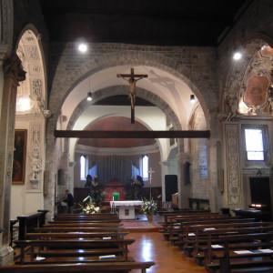 Interno chiesa dei Santi Eufemia e Vincenzo a Ossuccio