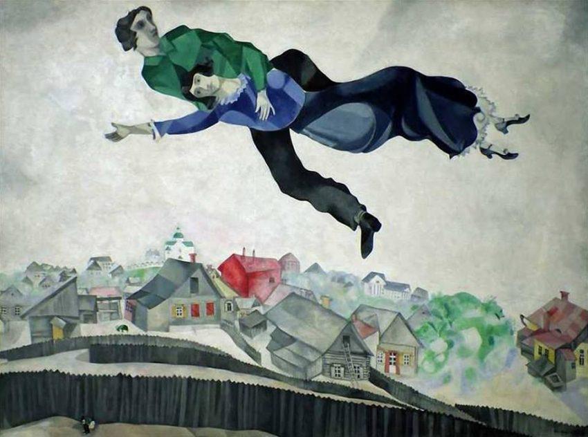 Marc Chagall - Sulla Città - 1918